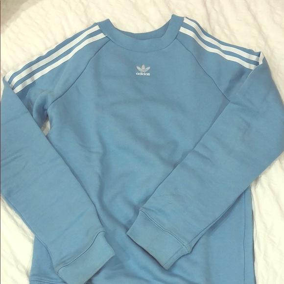 1e7d803a adidas Tops | Light Blue Sweatshirt | Poshmark